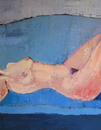 Sul divano azzurro