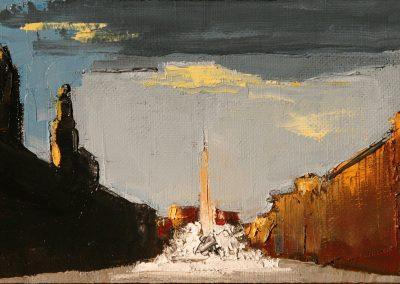 Piazza Navona al tramonto